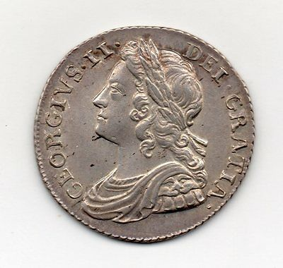 1737 Shilling, roses and plumes