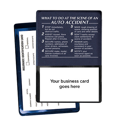 Auto Insurance ID Card/Registration Holders - What To Do At An Auto Accident