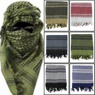 Military Shemagh 100% Cotton Army Face Disguise Head Sand Scarf Sas Arab Retro