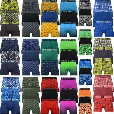 Mens 3 & 2 Pack Crosshatch Designer Boxers Shorts Underwear Trunks Multipack Set