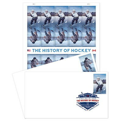 USPS New The History of Hockey Keepsake with DCP Set of 2