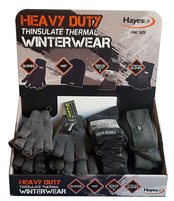 Thinsulate Black Thermal Hats, Gloves, 3 Pack Of Socks. Great Offers For Winter
