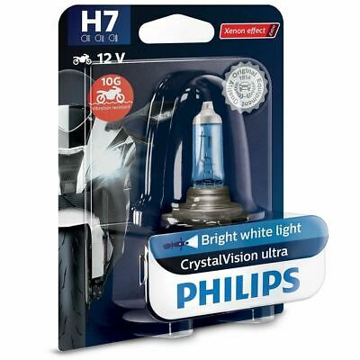 PHILIPS H7 CrystalVision ultra 12V 55W PX26d Motorcycle Headlights Bulb Single