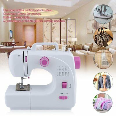 Multifunction Electric Overlock Sewing Machine Household Sewing 16 Stitches VP