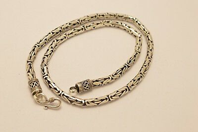 """925 Sterling Silver 5mm Bali Chain / Byzantine Necklace. 64 grams, 51cm, 20"""""""