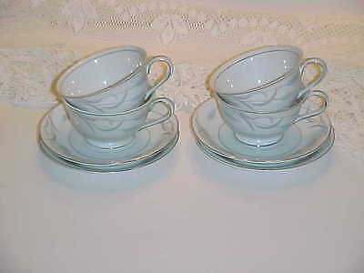 Valmont Fine China of Japan Royal Wheat Pattern Cup and Saucer Sets