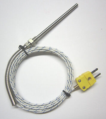 K-type Thermocouple Sensor High Temperature Stainless Steel Probe 932 F 500 C FG