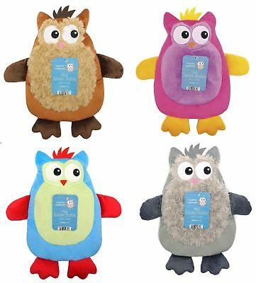 1000Ml Hot Water Bottle With Soft Knitted Owl Cover Fluffy Soft Winter Gift