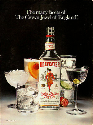 1981 Vintage ad for BEEFEATER`London Distilled Dry Gin