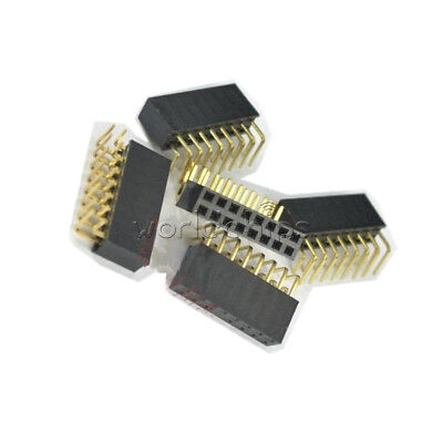 20PCS 2x8Pin Header 2.54mm Pitch Right Angle Female Double Row Socket Connector