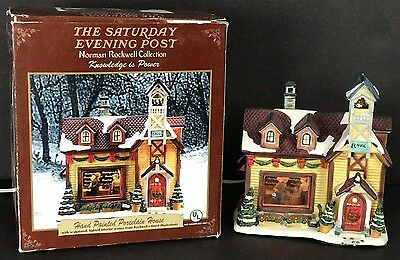 Norman Rockwell KNOWLEDGE IS POWER Porcelain House The Saturday Evening Post
