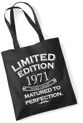 49th Birthday Gift Tote Shopping Bag Limited Edition 1971 Matured To Perfection