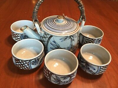 6 piece  Vintage Japanese tea set