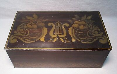 Antique Diamalt Yeast Cincinnati Stenciled/Grain Painted Tin Toleware Bread Box