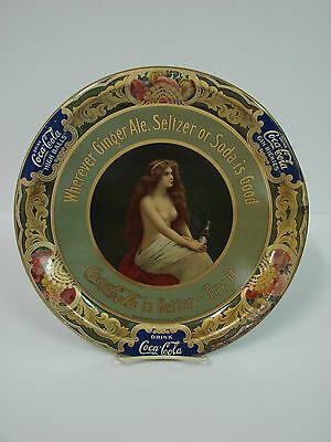 Supremely RARE 1908 Topless Coca Cola Tray Western CC Bottling Company High Ball