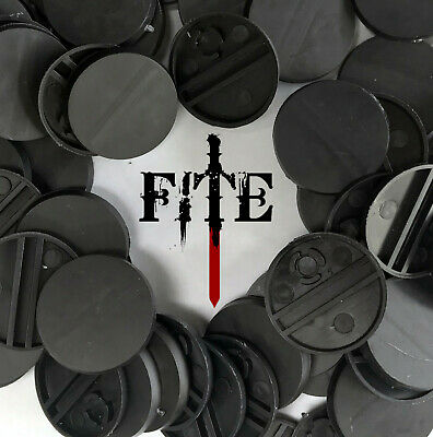 * BRAND NEW* 25mm round black plastic bases for Infinity Warhammer wargaming RPG