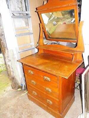 Edwardian Dressing Table / Chest of Drawers / Swivel Mirror