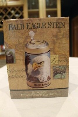 Budweiser Bald Eagle Lidded Beer Stein, Endangered Species Series - 1989