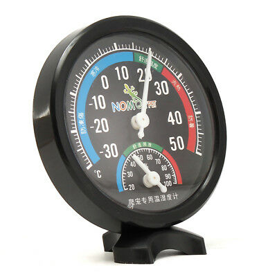 Reptile Box Thermometer Humidity Hygrometer Dial Gauges with Colour Codes