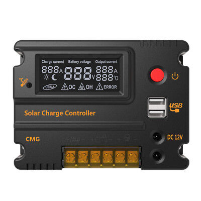 CMG-2420 12V/24V 20A Solar Charge Controller Panel Battery Regulator Auto Switch