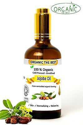 Organic Jojoba Oil Cold Pressed Undiluted,Certified, Premium Quality 50 ml
