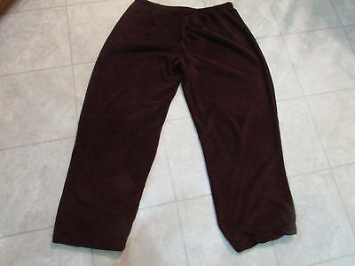 NW/OT Stan Herman PJ Bottoms-Color-Merlot-Size-XXL