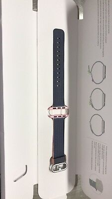Genuine Apple 38mm Watch Woven Nylon Band, Light Pink/Midnight Blue