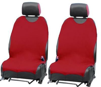 RED CAR SEAT COVERS PROTECTORS For Fiat Punto Panda 500 Tipo Front Set