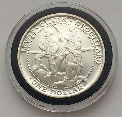 2003 Silver Sovereign Nation Of The Shawnee Tribe Lewis,clark & Drouillard Coin