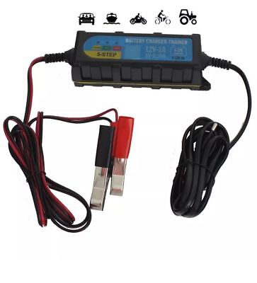 6V 12V 1.0A 5 Step Automotive Car Bike Smart Intelligent Battery Charger Trainer
