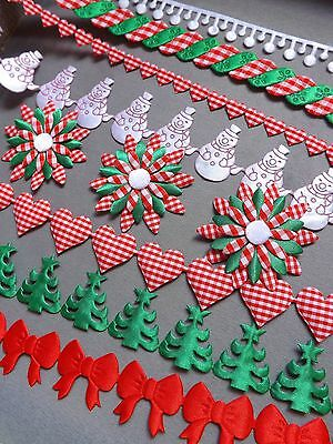 38c5b6ed7d43a CHRISTMAS TRIM WRAPPING sewing lace xmas craft card art gift fawors ...