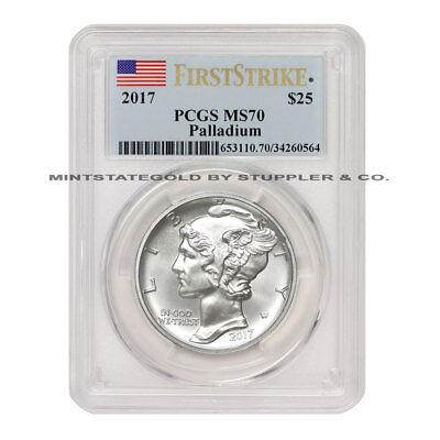 2017 $25 1 oz ounce Palladium American Eagle PCGS MS70 FS First Strike coin