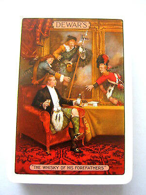 SCOTCH WHISKY WIDE DEWARS WHITE LABEL WHISKY VINTAGE PLAYING CARDS GOODALL 1920s