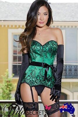 NEW Coquette Envy Satin with Lace Corset, Womens Sexy Lingerie, Wild Secrets