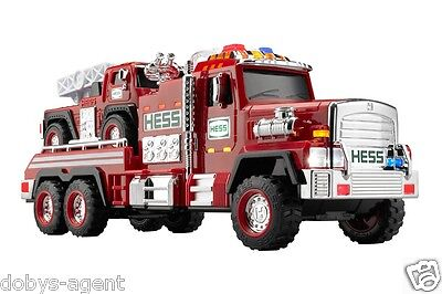 2015 Hess Fire Truck And Ladder Rescue In Box Classic Red