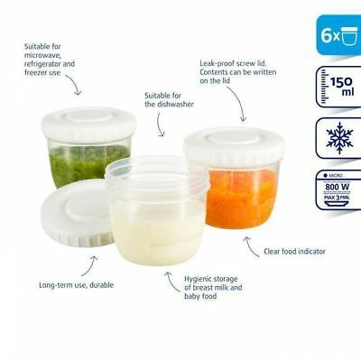 Difrax Food Milk Storage Container 6pc Assorted