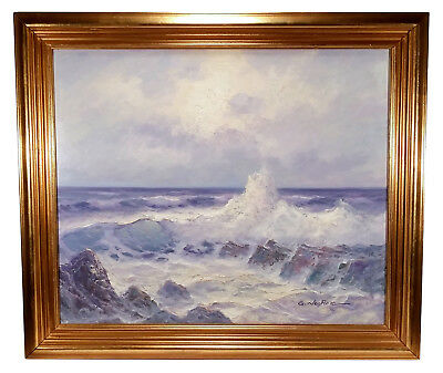 seascape paintings on canvas original vintage oil painting on canvas seascape k cummings