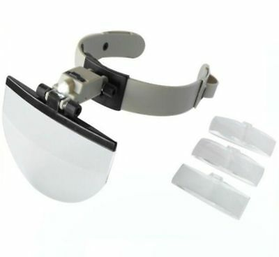 MG81003 1.2X 3.8X 4.5X 5.5X Hands Free Magnifier Helmet Magnifying Glass Loupe w