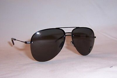 76b6bb9792d079 New Saint Laurent Sunglasses Sl Classic 11 S M-001 Black Gray Authentic