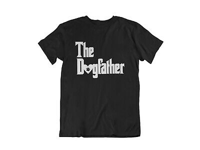 Mens The DogFather T Shirt Cute Dog Lover Gift T-Shirt Fathers Day Dog Walker