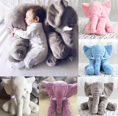 Large Elephant Pillow Soft Cushion Stuffed Baby Kids Plush Doll Toy