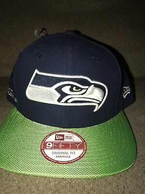 finest selection 7f798 36a72 New Mens Seattle Seahawks Snapback New Era 9Fifty Hat cap