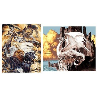 40*50CM Eagle Dragon Pattern Paint By Number Kit DIY Canvas Painting Home Decor