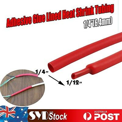 Red Dual Wall Heat Shrink Tubing Ratio 3:1 Wires Insulation 6M Flame Retardant