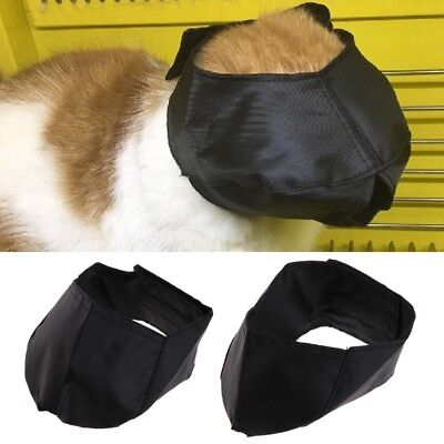 Cat Grooming Muzzle Adjustable Black Snout Anti Bite Cat Muzzle Cat Travel Tool