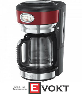 Russell Hobbs 21700-56 Retro Ribbon Red Coffee Maker With Glass Carafe Genuine