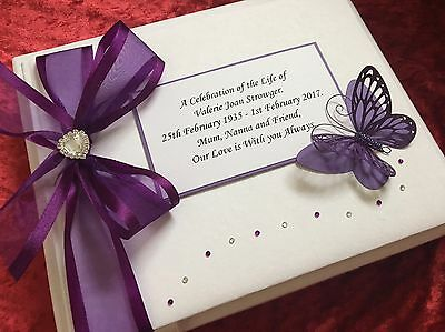 Condolence Funeral Book In Loving Memory Book Large Boxed Personalised
