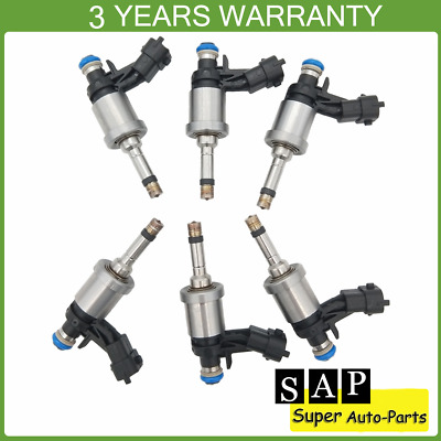 6PCS Fuel Injector 12638530 For Buick Enclave Cadillac CTS Chevrolet Camaro GMC