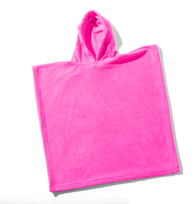 NEW Hooded Wovii Poncho Towel for Kids in Hot Pink | Beach Bath | ihartTOYS