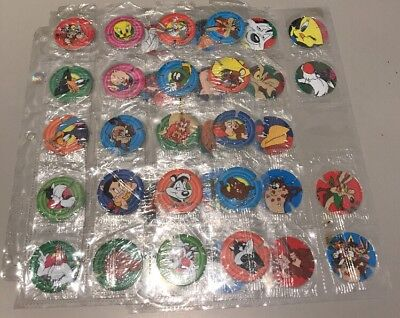 Looney Tunes Tazos Sealed Near Set 38 Of 40 In Original Wrappers 1995
